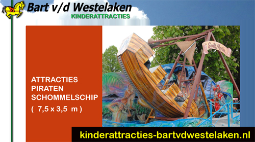 Piraten Schommelschip kinderattractie, schommelschip piratenthema, pirate event, pirate festival, attractie, caribbean